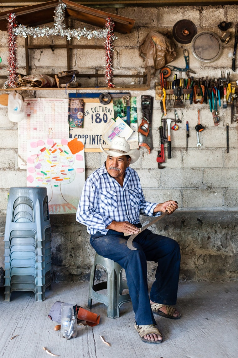 Portrait of Mexican man in Puebla, Mexico