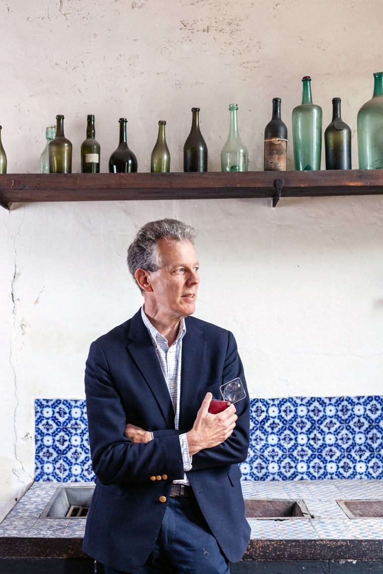 Portrait of Michael Egan wine expert and detective for the Financial Times Magazine