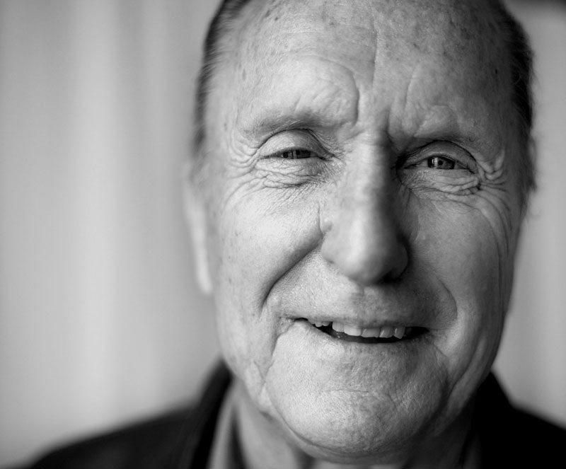 Portrait of US actor Robert Duvall