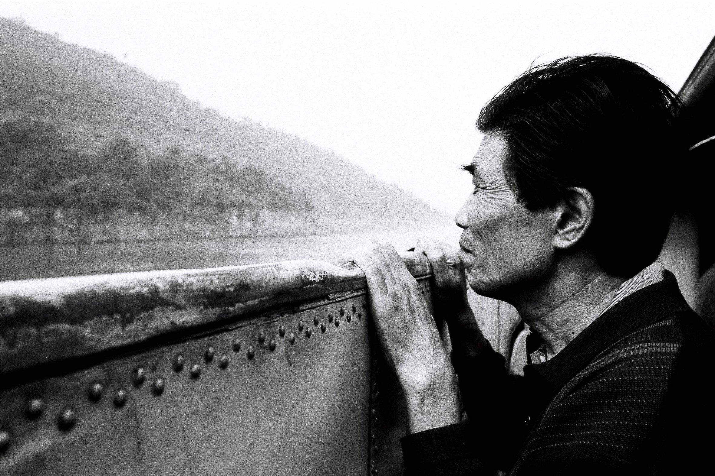 Yangtze River black & white