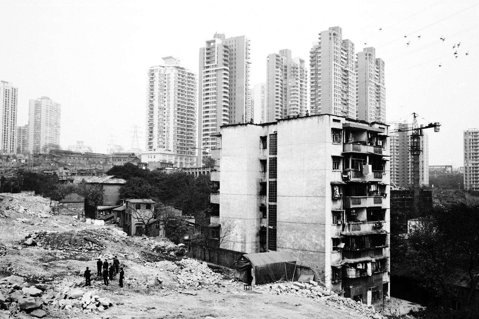 Landscape black & white urban china