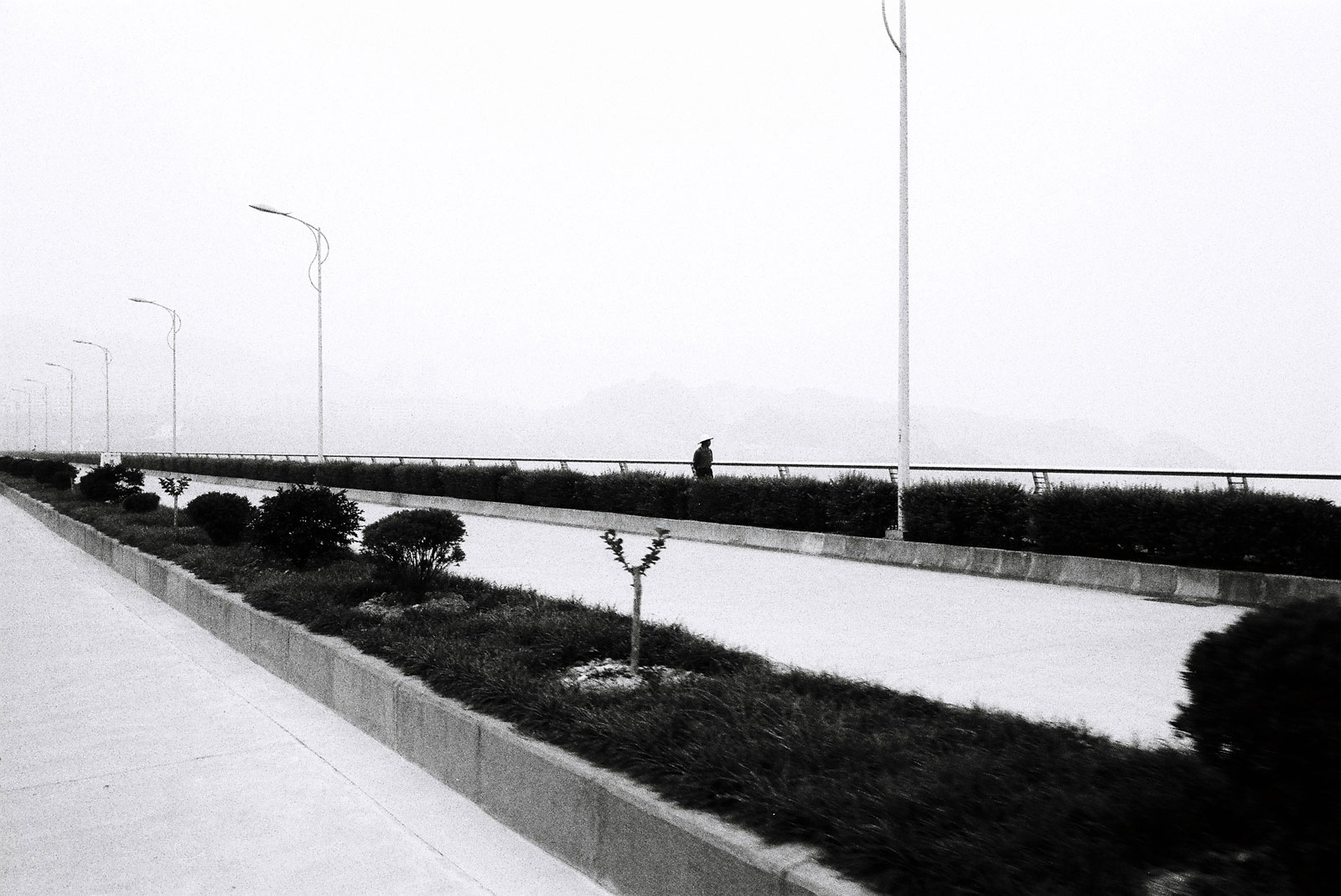 three gorges dam black & white